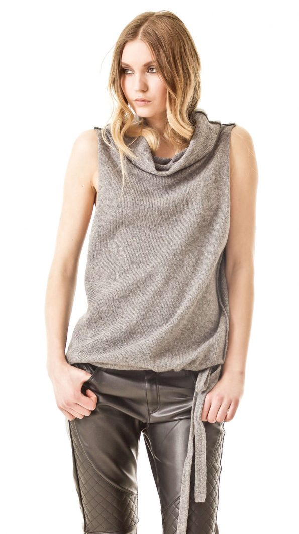 Cashmere vest CLAIRE   Cashmere sweaters and cardigans by Krista Elsta Knitwear