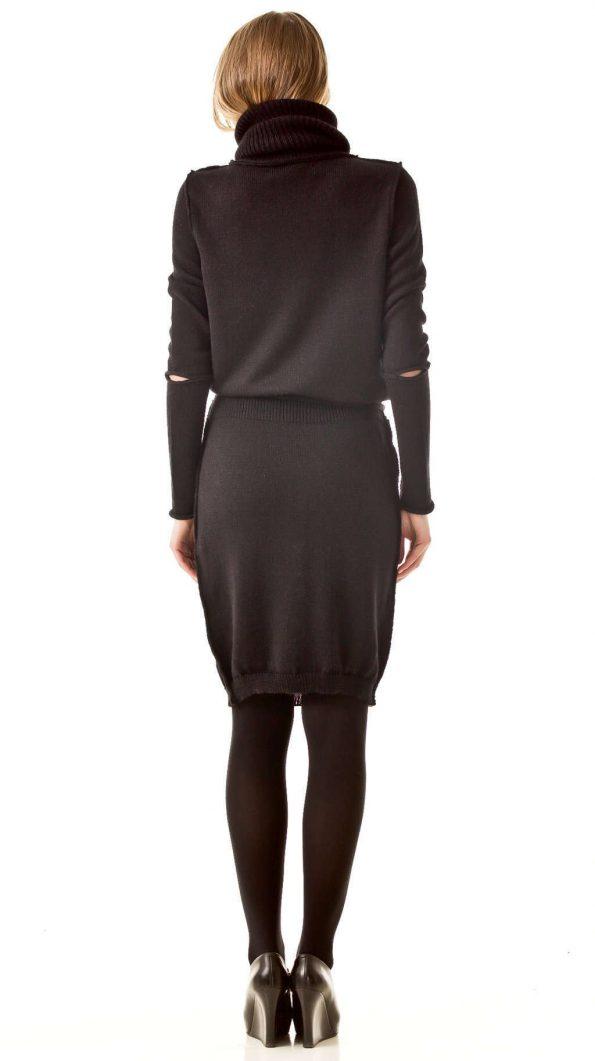 AMANDINE BLACK turtleneck dress