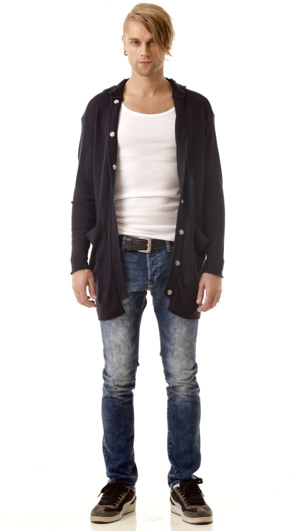 Straight cut mens cardigan JAMES