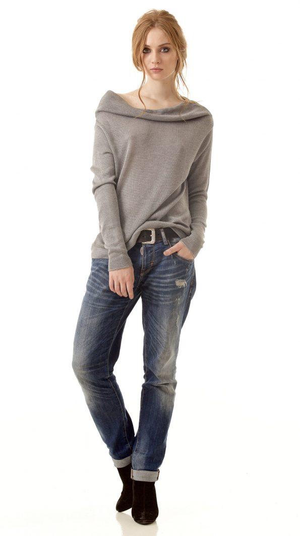 cashmere jumper womens grey sweater