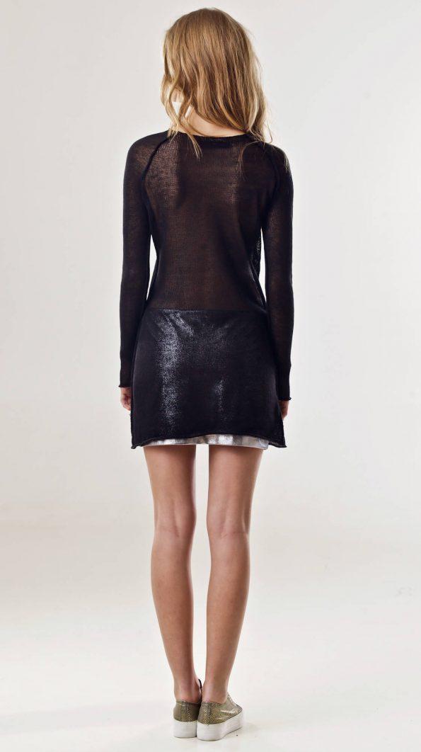 Black linen tunic FRANCOISE