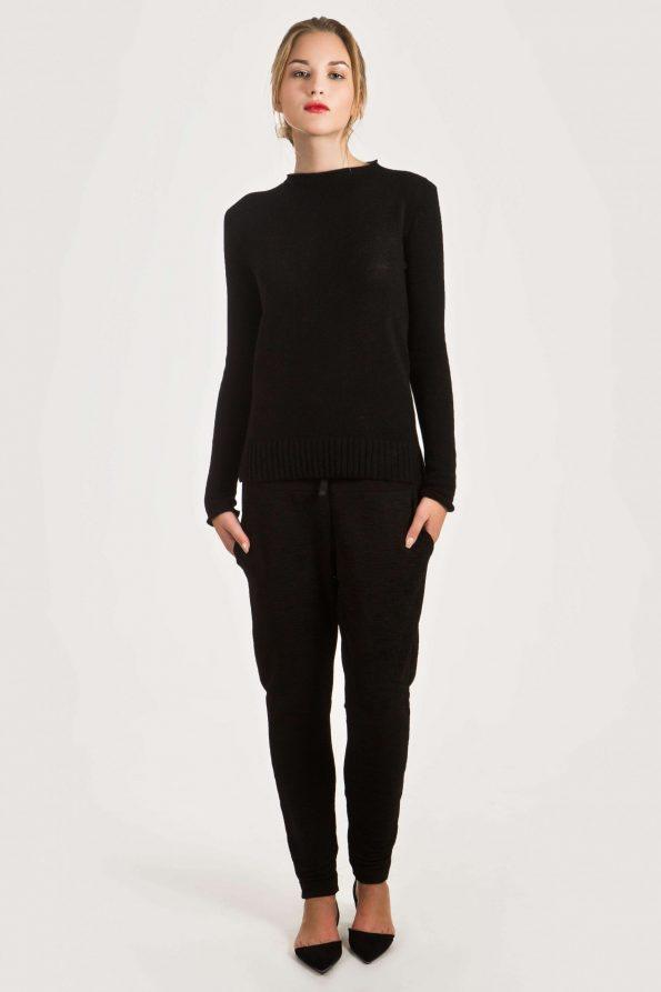 black cashmere sweater women