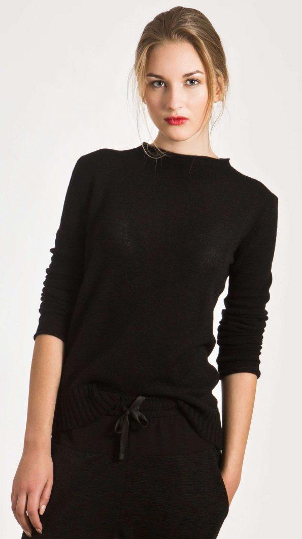 black cashmere sweater womens jumper pullover