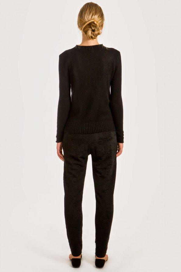 Black short cashmere cardigan damen strickjacke HELEN   Cashmere sweaters and cardigans by Krista Elsta Knitwear