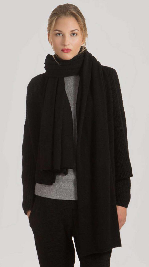 black cashmere scarf travel wrap black cashmere scarf travel wrap 70 x 220 cm 27 x 86 inches for women Italian cashmere