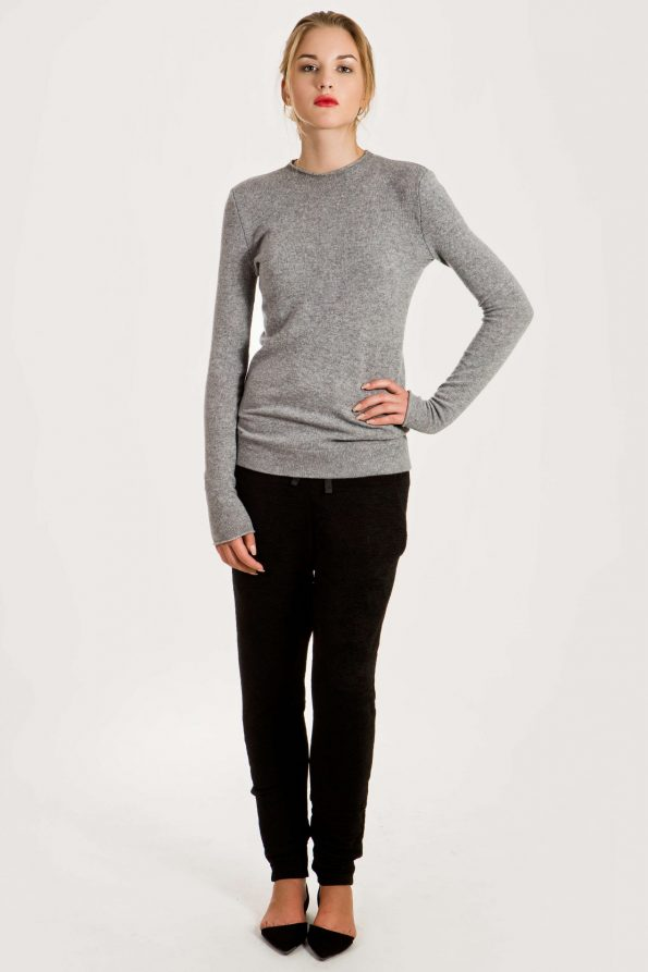 Grey cashmere sweater jumper womens. This is not Nordstrom Rack, Everlane or Lands End clothing.