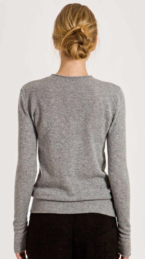 Grey cashmere womens crew neck sweater jumper pullover KAREN