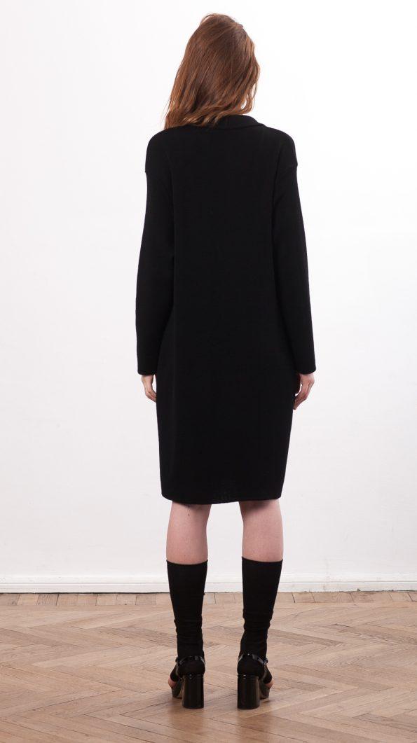 Black coat cardigan SIENNA