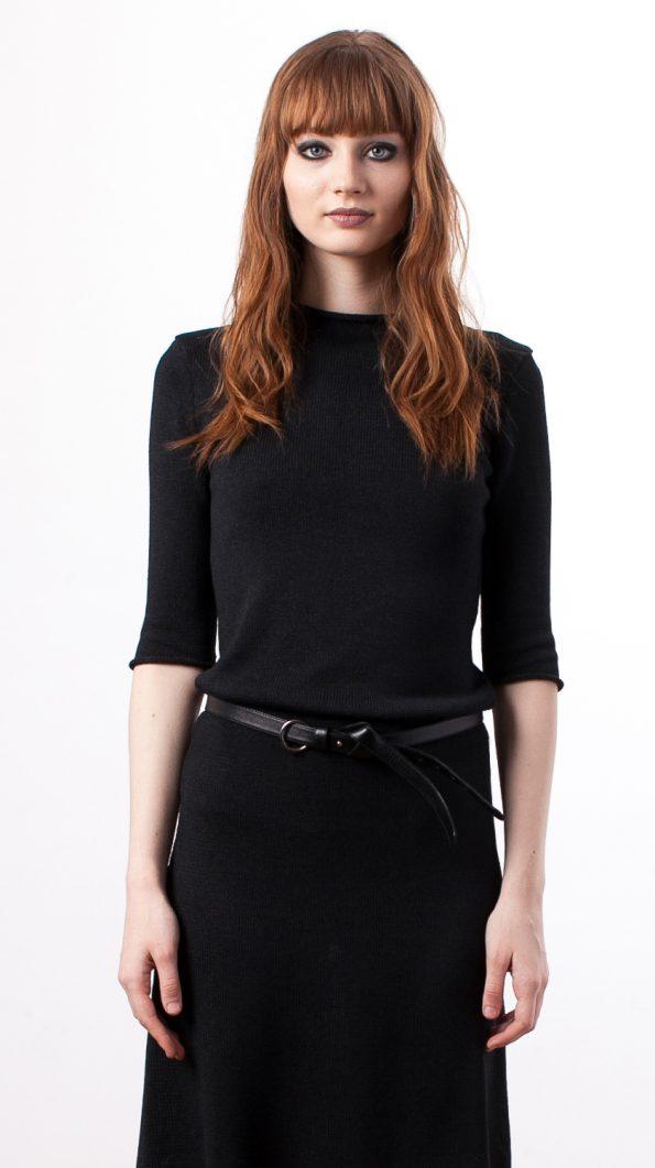 Black silk dress CLEMENCE