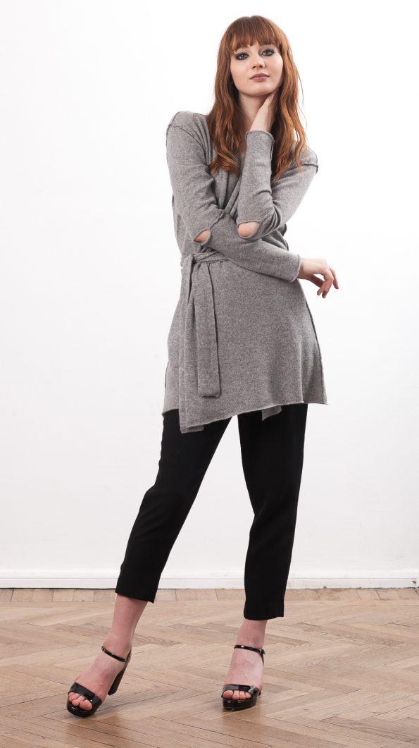 cashmere wrap cardigan womens grey black