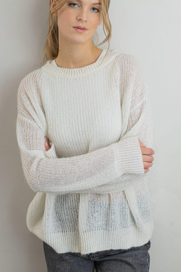 Chunky fuzzy loose fit jumper womens