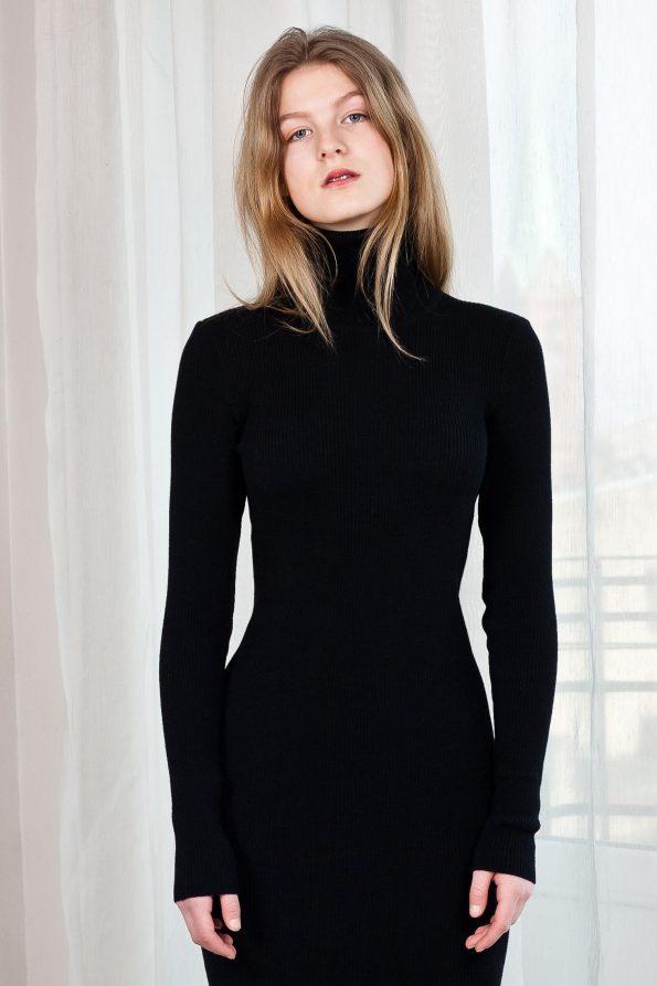 Black turtleneck dress ALICE