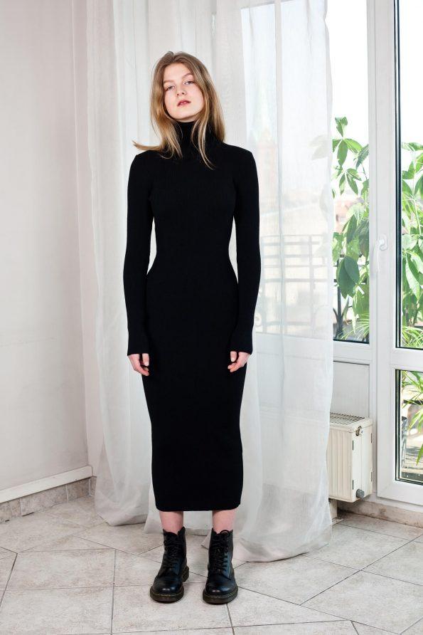 Knit turtleneck dress ALICE