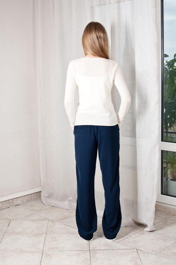 Off-white cashmere v-neck womens sweater