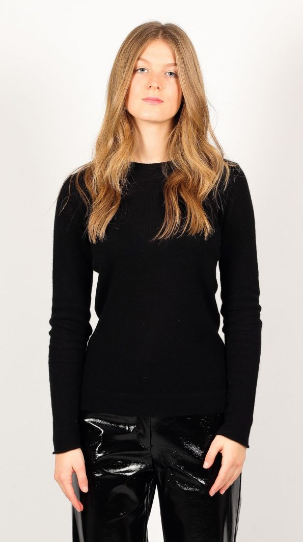 Knitted womens cashmere crew neck sweater jumper KAREN