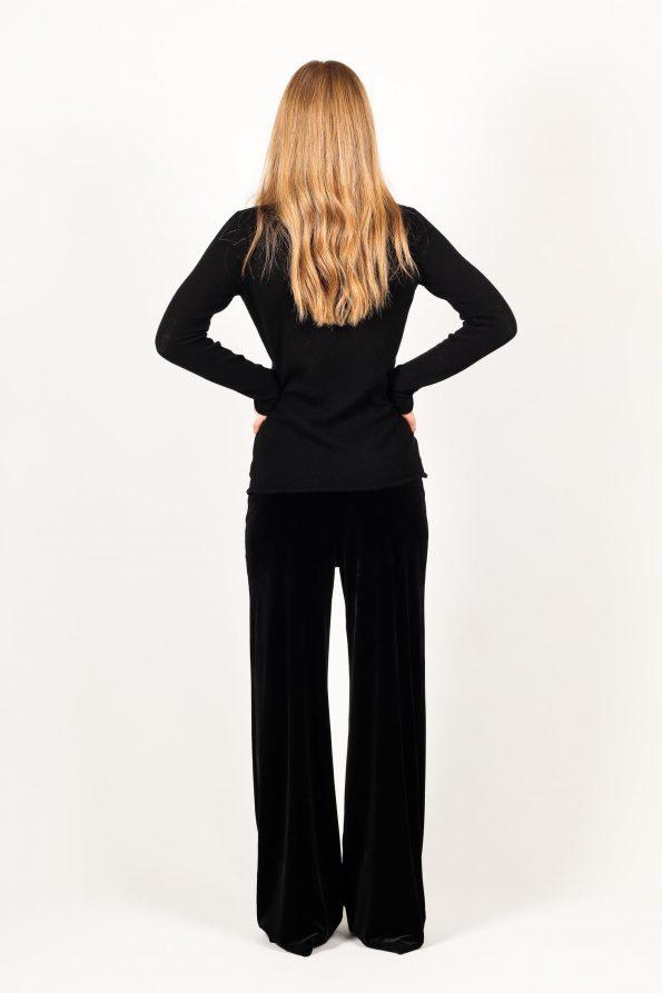 Black cashmere womens turleneck sweater jumper MARGO