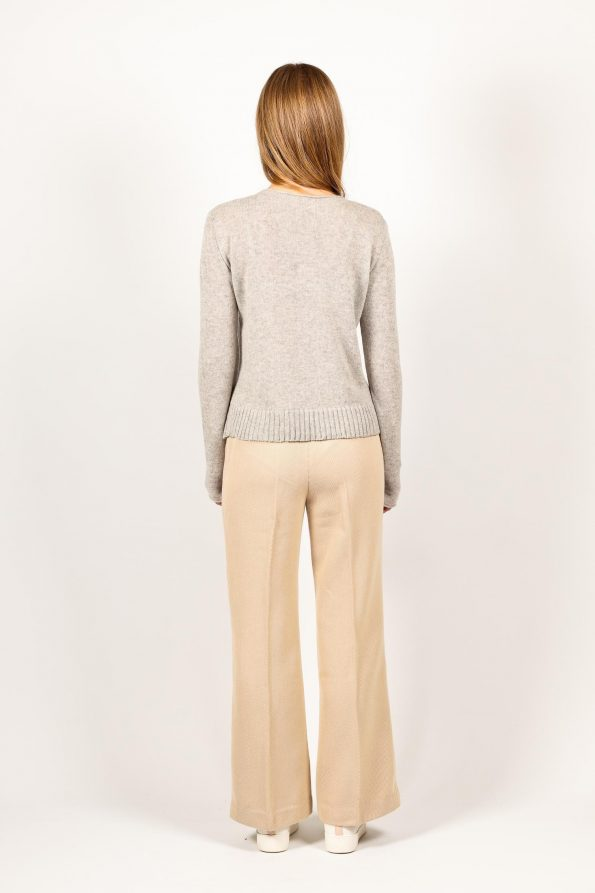 Knitted womens cashmere crew neck sweater jumper ANNA