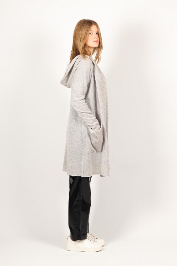 Wrap cashmere coat with pockets ALETHE