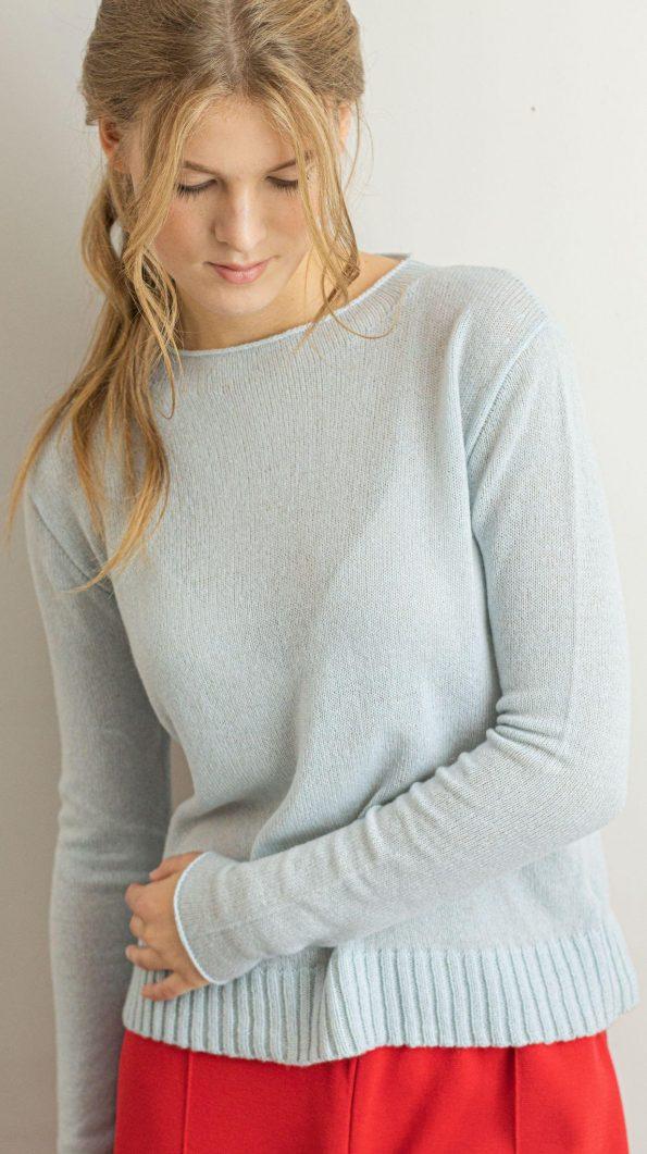 Classic cashmere womens sweater ANNA