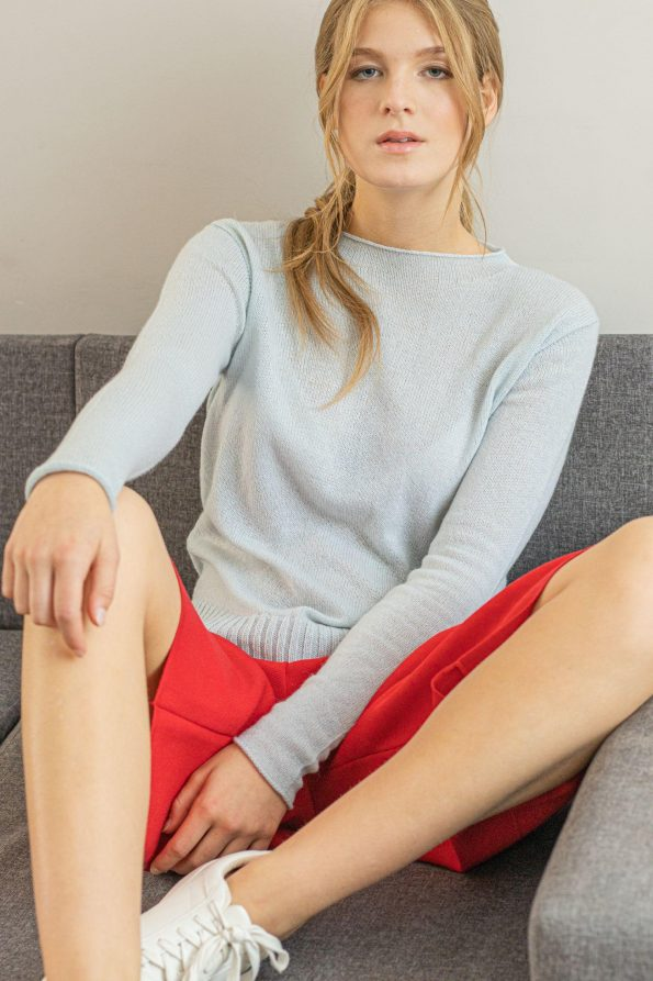 Long sleeve crew neck cashmere jumper ANNA