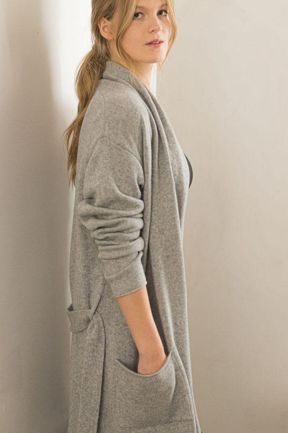 Cashmere womens cardigan sweater coat OLIVIA