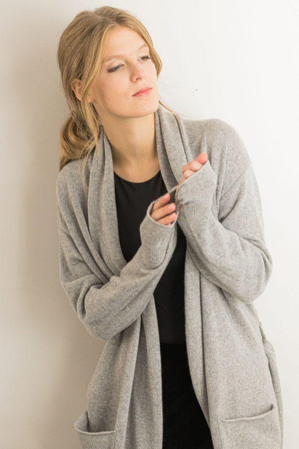 Cashmere wool cardigan sweater OLIVIA