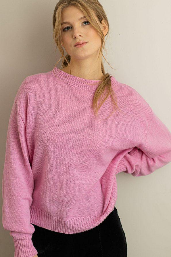 Merino wool sweater jumper FRIDA PINK