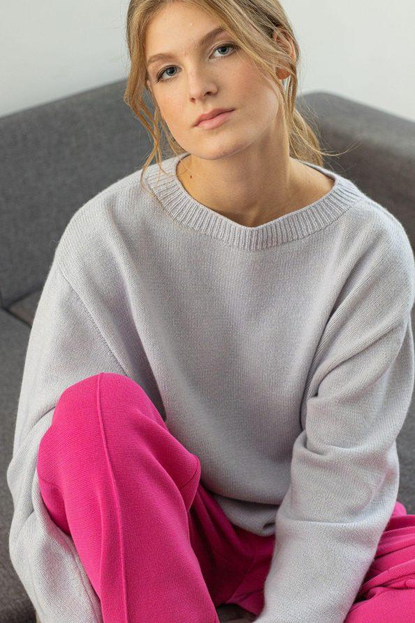 Knit womens sweater Frida Blue